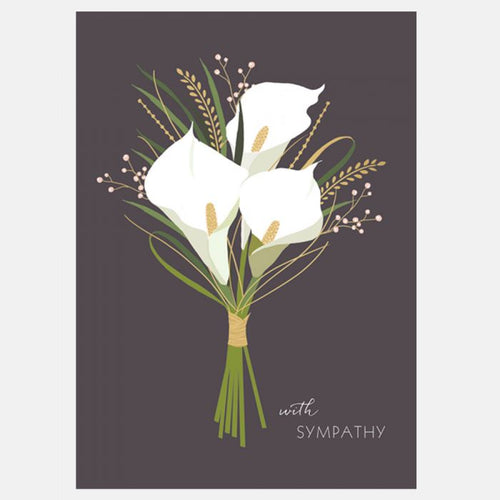 Sara Miller by The Art File - Sympathy Lillies Card