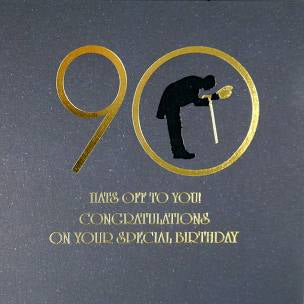 Five Dollar Shake 90 Hats off to You Birthday Card