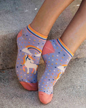 Powder Unicorn Bamboo Trainer Socks