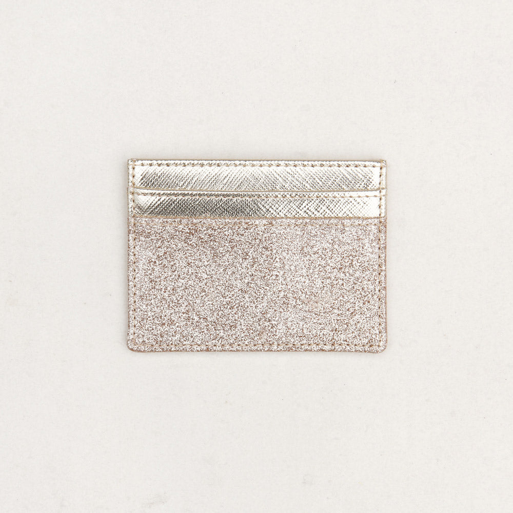 Caroline Gardner Gold Glitter Travel Card Wallet