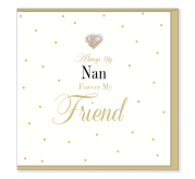 Always my Nan Card | Hearts Designs | Blank