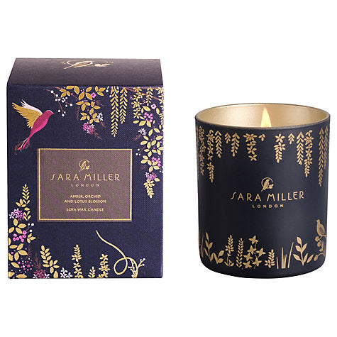 Sara Miller Candle- Amber, orchid & Lotus Blossom