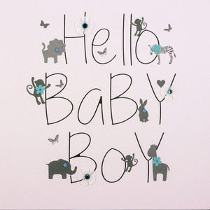 Five Dollar Shake Hello Baby Boy Card