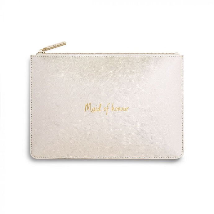 Katie Loxton Perfect Pouch - Maid of Honour - Pearlised