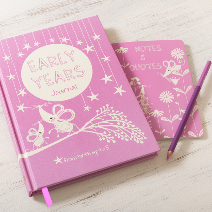 Early Years Journal & Notes Pink Baby Record Book
