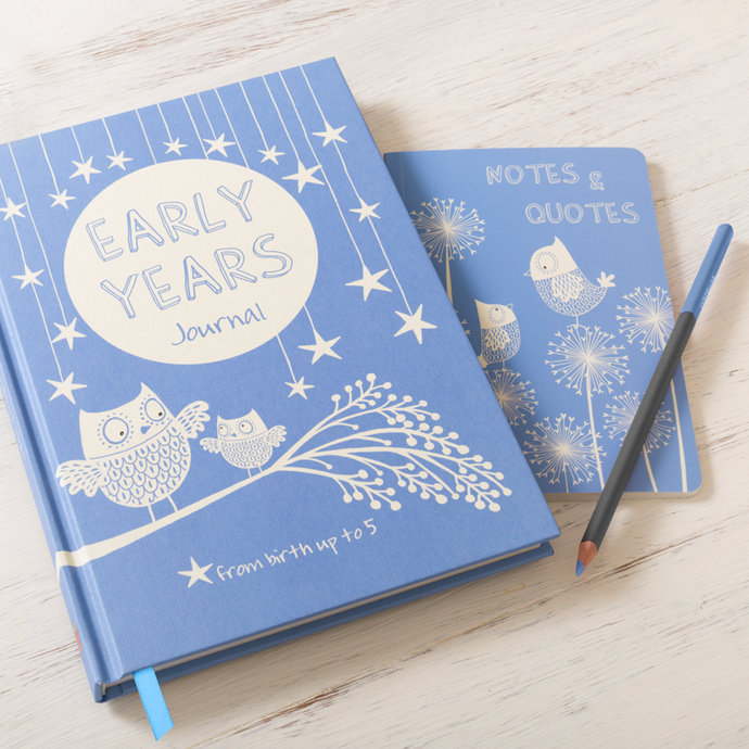 Early Years Journal & Notes Blue Baby Record Book
