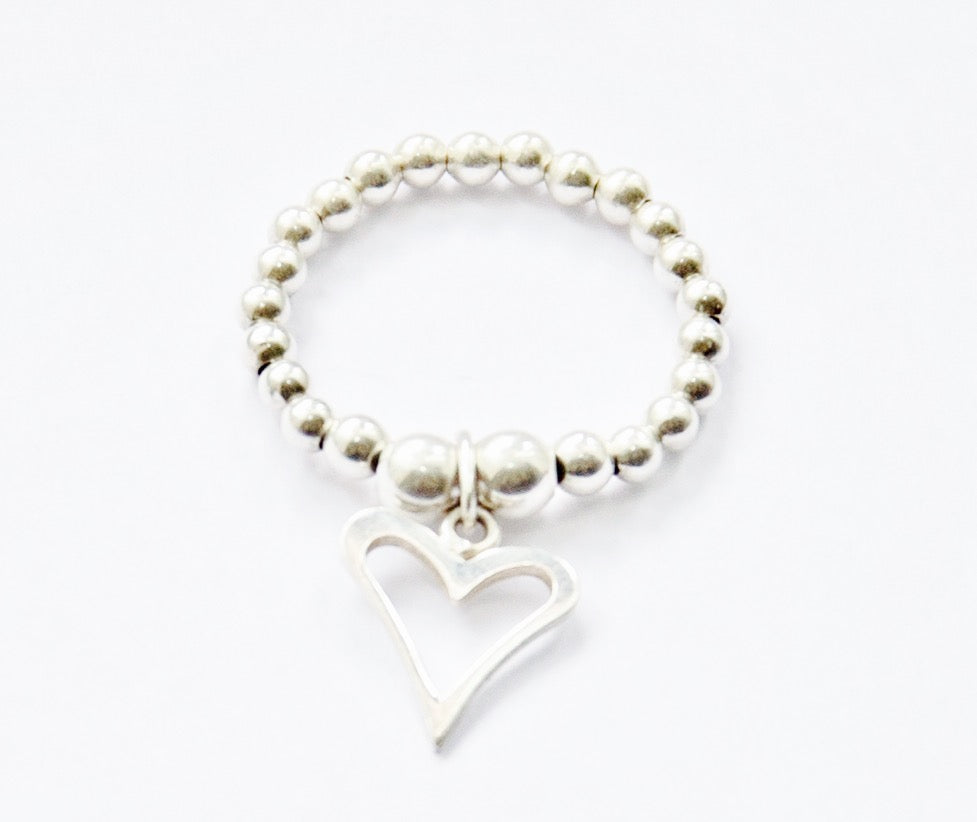 Jolu Jewellery Amaya Heart Stretch Ring