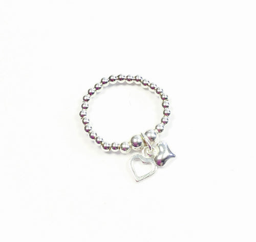 Jolu Jewellery Bella 2 Hearts Stretch Ring