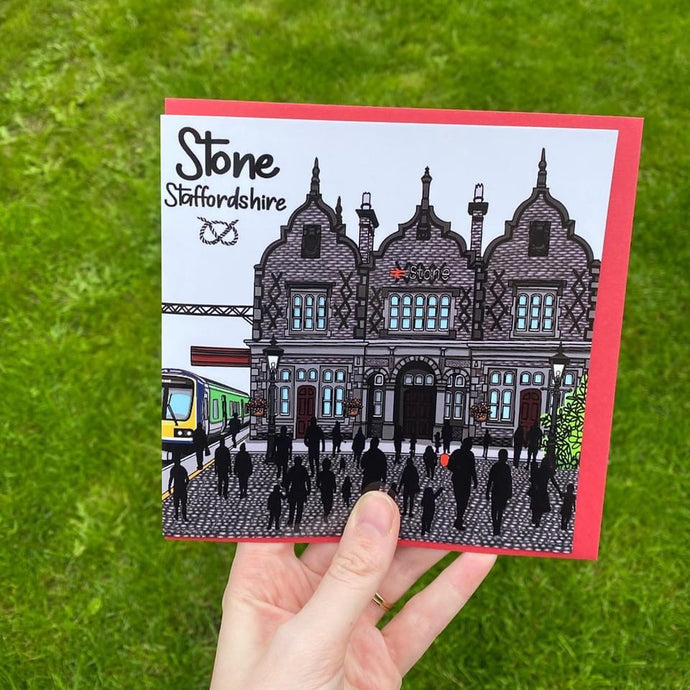 Megan Rose Stone Station Card