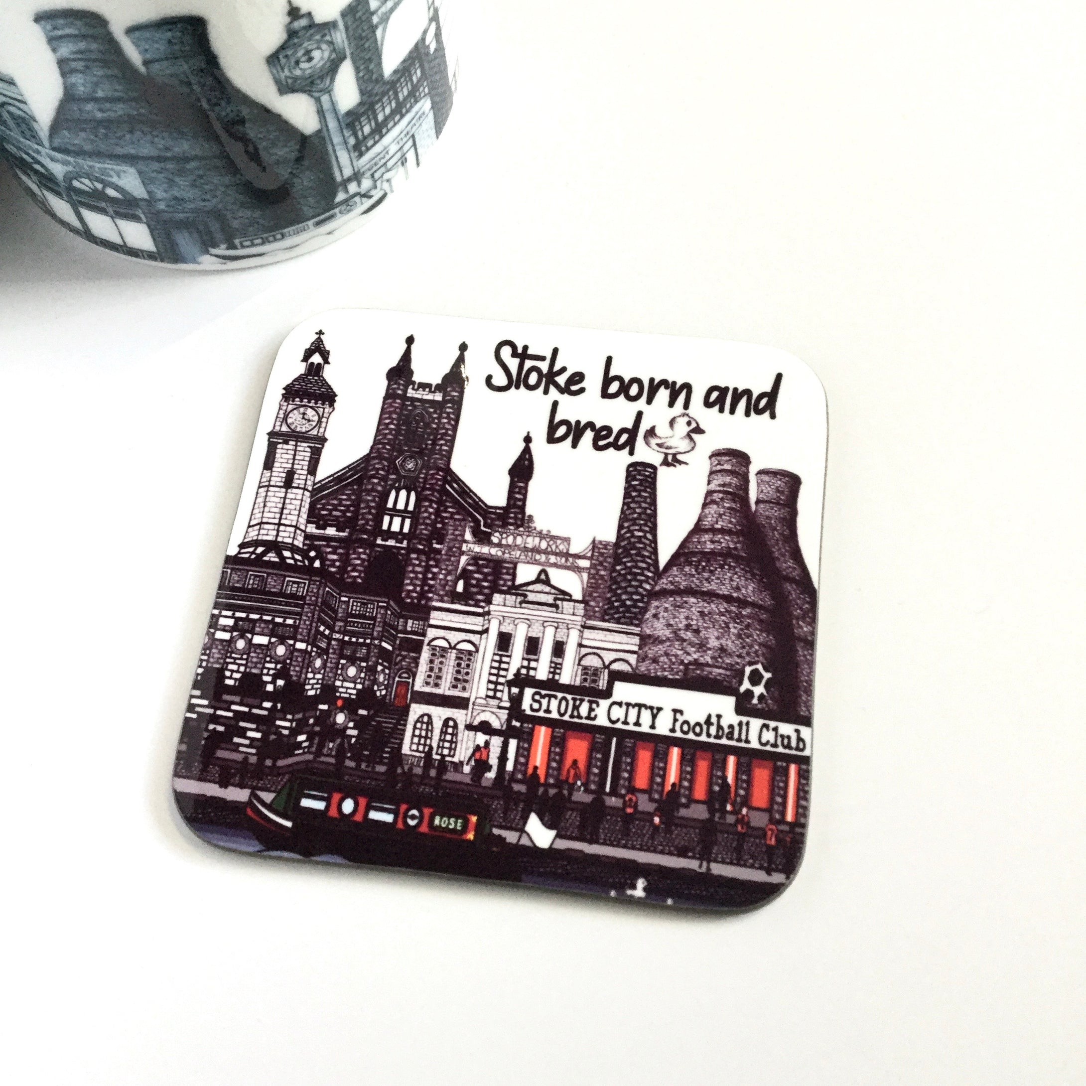 Megan Rose Design Stoke Born & Bred Coaster