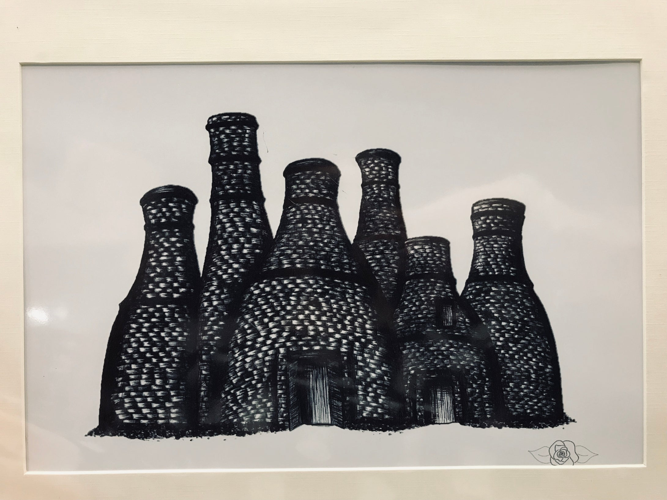 Megan Rose Design Bottle Ovens Print