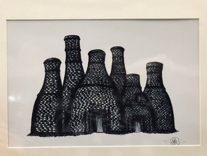 Megan Poxon Bottle Kilns Print