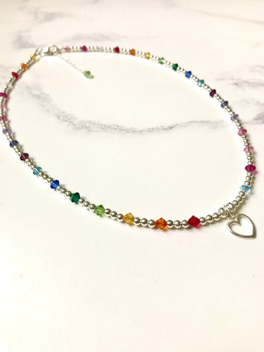 Jolu Jewellery Rainbow Love Full Necklace 🌈
