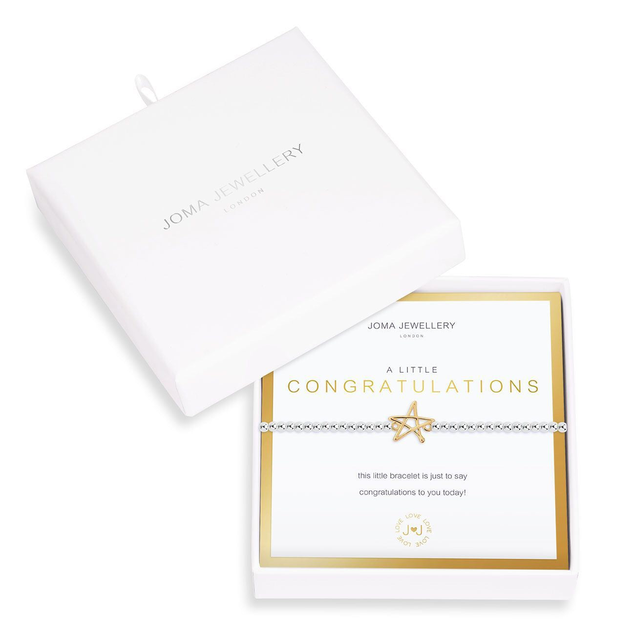 Joma Jewellery Beautifully Boxed A Little Congratulations Bracelet