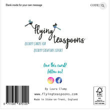 Flying Teaspoon Would of Been Wedding Day Blank Card