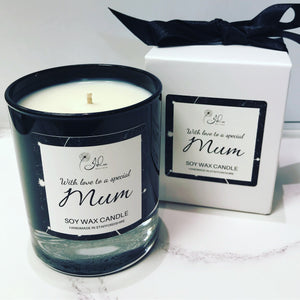 Jolu Boutique Special Mum Soy Wax Candle - Boxed Glass