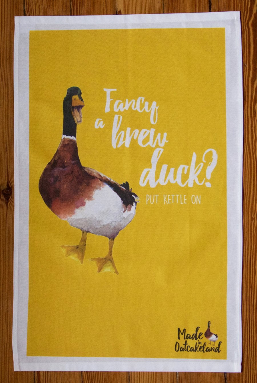 Fancy a Brew Duck Teatowel
