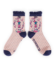 Powder Alphabet Socks - Letter I