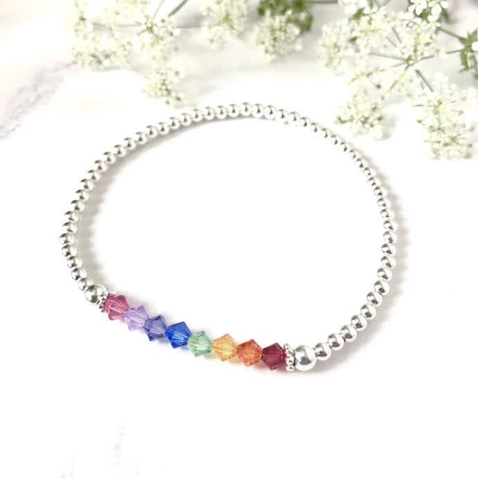 Jolu Jewellery Rainbow Hope Bracelet 🌈