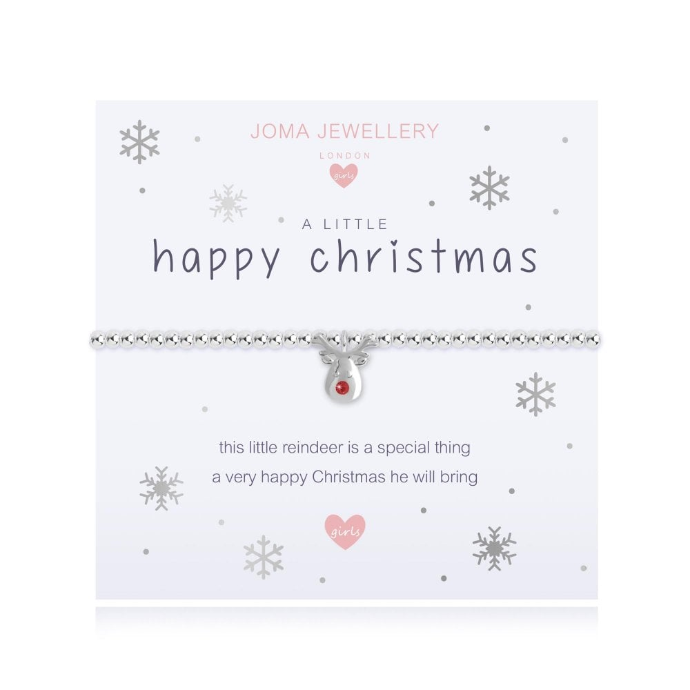 Joma Jewellery Girls A Little Happy Christmas Bracelet