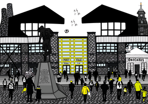 Megan Rose Design Port Vale Stadium A5 Print