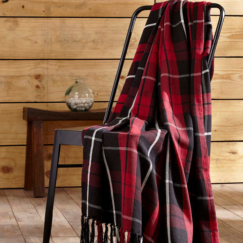 red & black plaid throw blanket