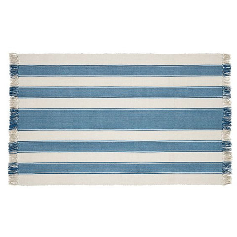 48 x 72 Blue Stripe Rug French Country Modern Farmhouse Style
