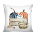 Watercolor Pumpkins Throw Pillow Cover