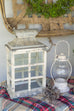 Windowpane Metal Top Candle Lantern