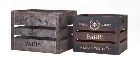 vintage inspired French crate