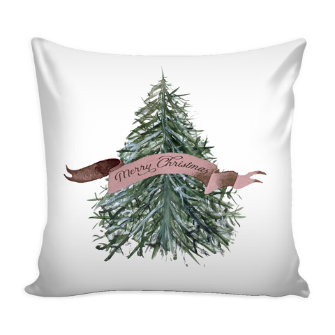 Exclusive Watercolor Merry Christmas Pillow Cover