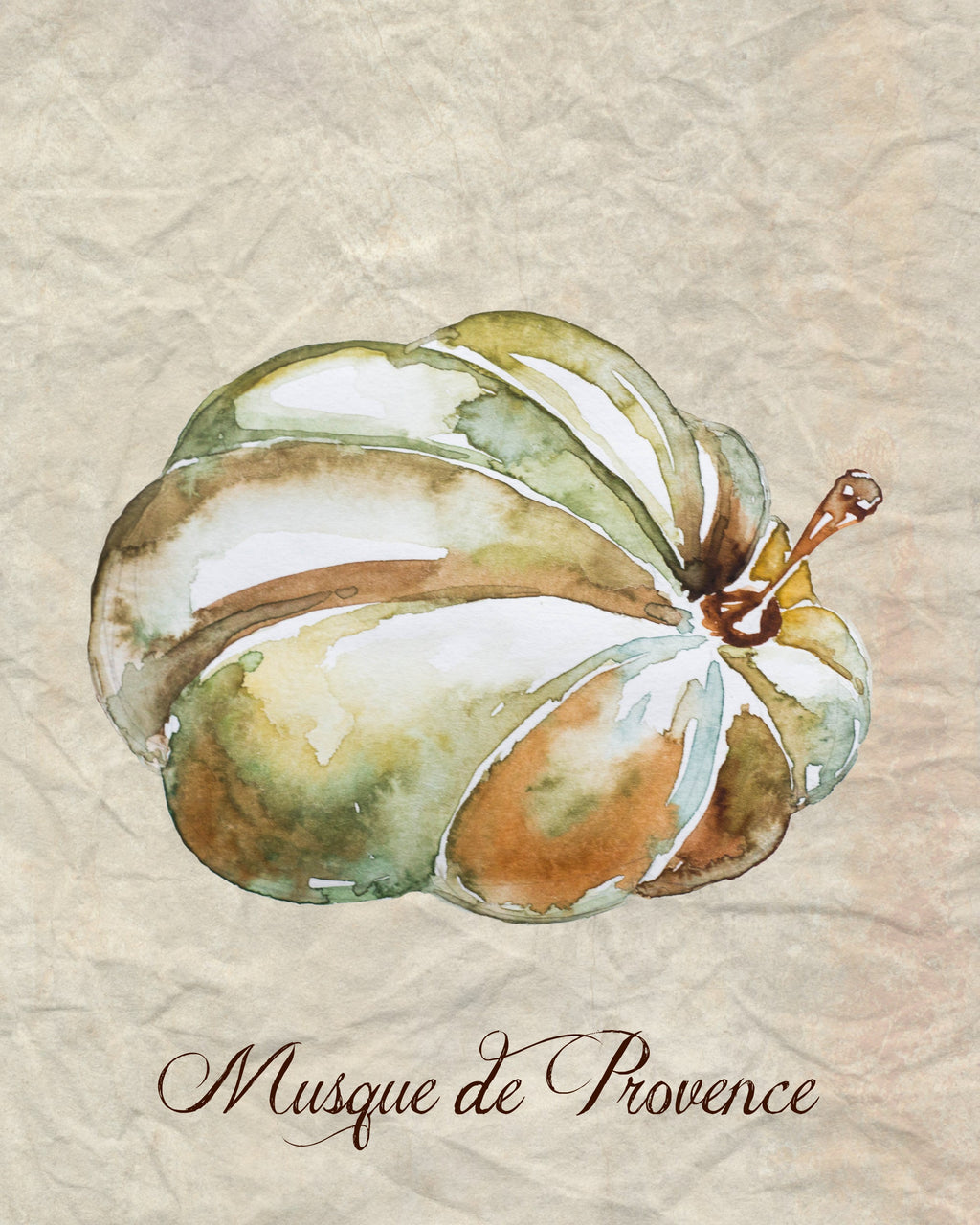 pumpkin printable watercolor art