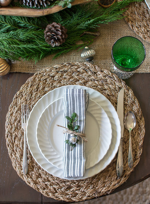 French farmhouse striped napkins