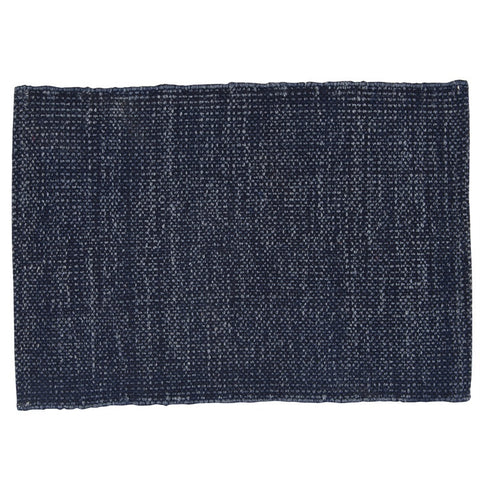 Stonewashed Navy Woven Placemats, set of 4