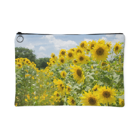 Sunflower Field Zipper Pouch