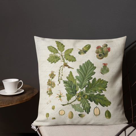 antique botanical fall pillow cover