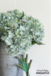 realistic fake faux artificial blue hydrangea