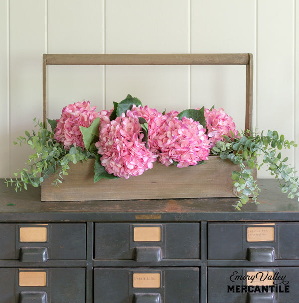 artificial dark pink hydrangea pick