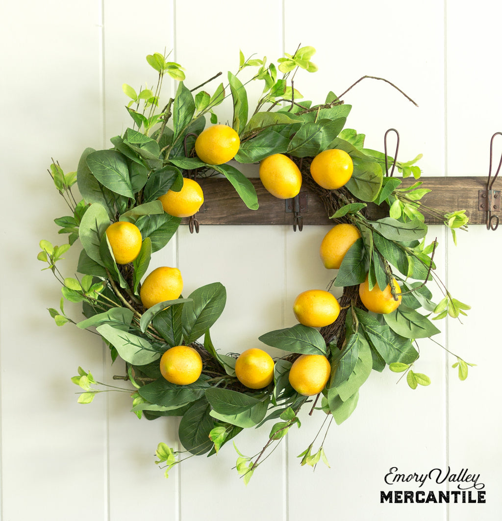 artificial lemon wreath