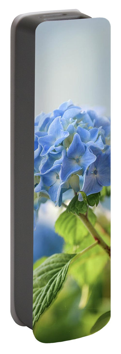 Blue Hydrangea - Portable Battery Charger