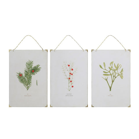 Christmas botanical vintage reproduction wall art