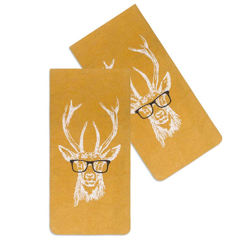 Buck with glasses eyeglass case