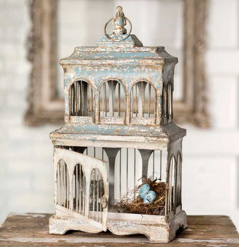Chippy Blue and Cream Birdhouse