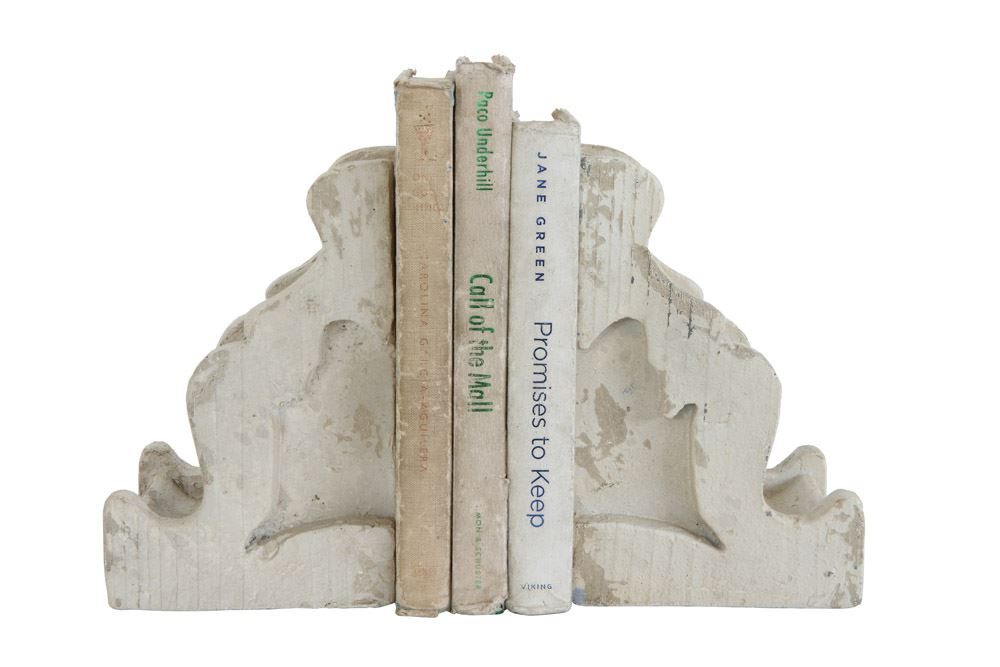 chippy painted corbel bookends