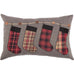 This plaid stocking Christmas pillow is adorable!