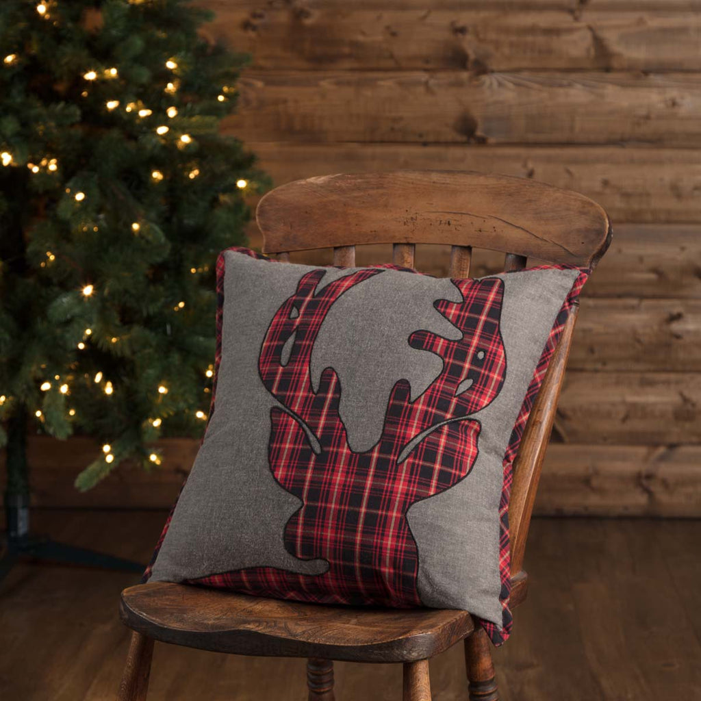 This plaid deer pillow is perfect for the holidays.