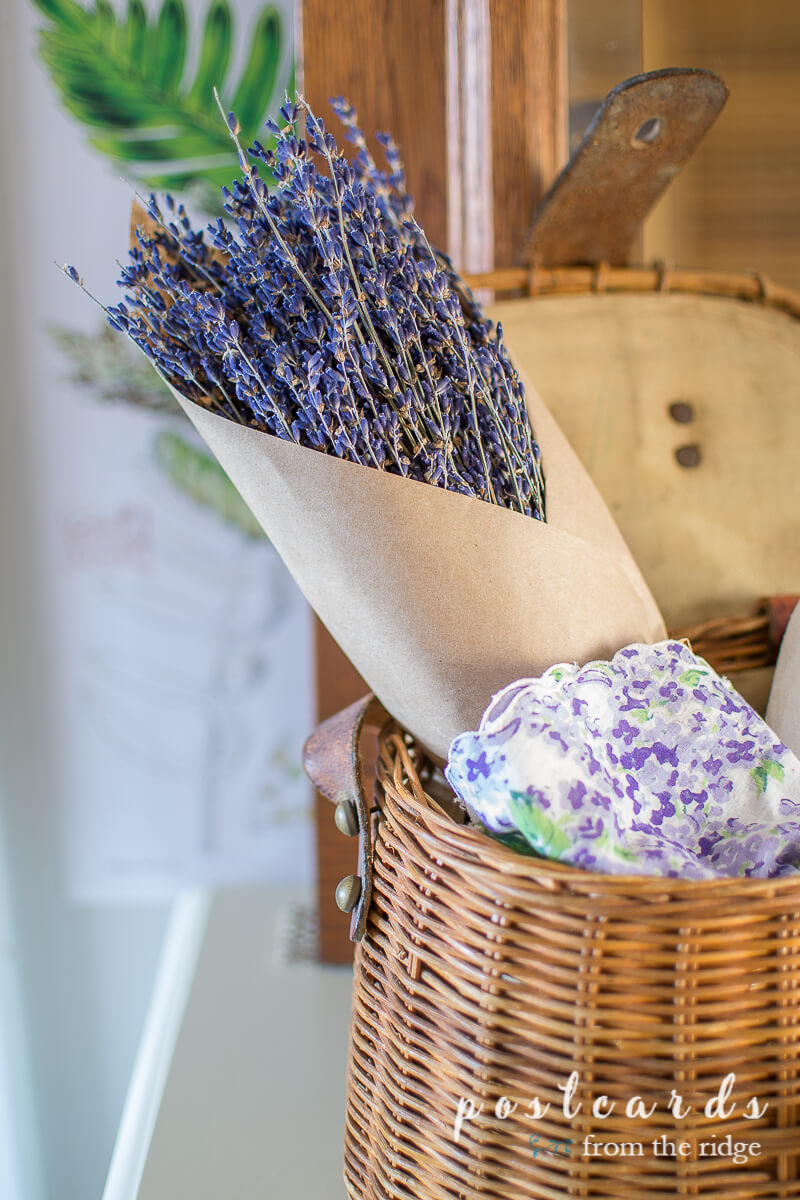 dried French lavender bundle