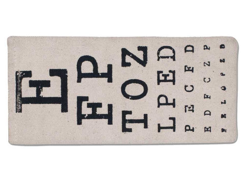 eye chart glasses case