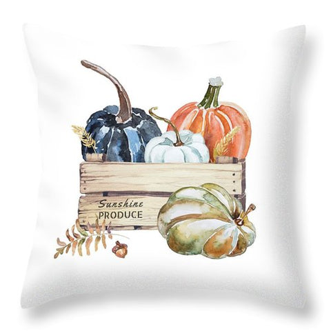 Fall Pumpkins - Throw Pillow