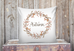 fall berry wreath pillow cover